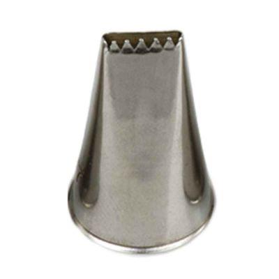 Beccuccio cornetto intreccio 47 in acciaio inox Ø1,7 x 3 cm Decora