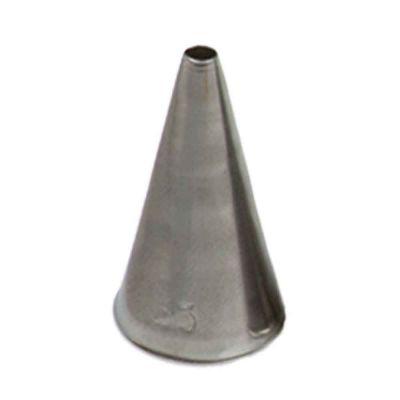 Beccuccio cornetto tondo 55 in acciaio inox Ø1,7 x 3,3 cm