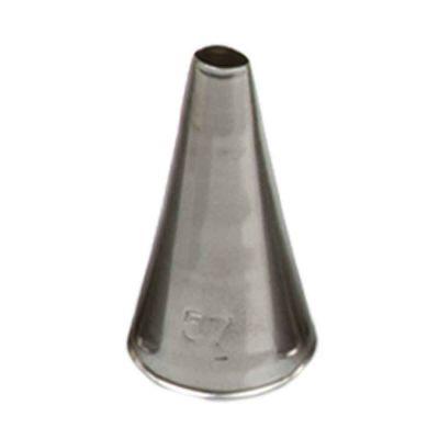 Beccuccio cornetto tondo 57 in acciaio inox Ø1,7 x 3,3 cm