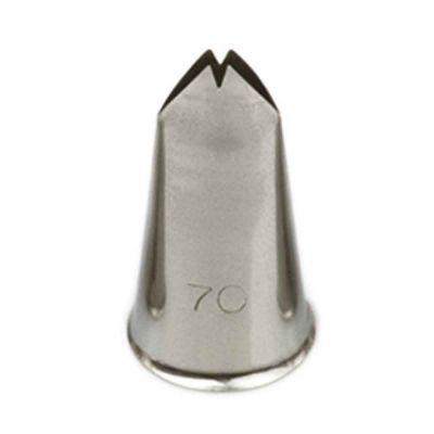 Beccuccio cornetto Foglia 70 in acciaio inox Ø1,7 x 3 cm
