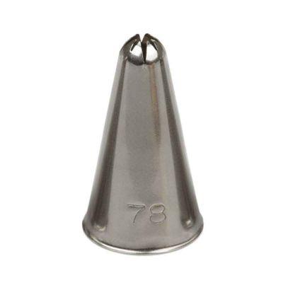 Beccuccio cornetto stella chiusa 78 Decora in acciaio inox Ø1,7 x 3 cm
