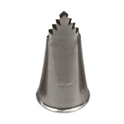 Beccuccio cornetto specialità frill 95 in acciaio inox Ø1,8 x 3,5 cm