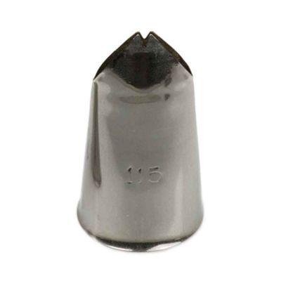 Beccuccio cornetto Foglia 115 in acciaio inox Ø2,4 x 4 cm