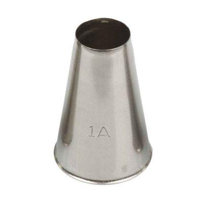 Beccuccio cornetto tondo 1A in acciaio inox Ø2,5 x 3,8 cm