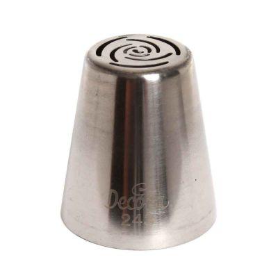 Beccuccio cornetto 3D bocciolo di rosa 243 in acciaio inox Ø3,7 x 4,1 cm Decora