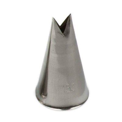 Beccuccio cornetto Foglia 353 in acciaio inox Ø2,5 x 4,5 cm