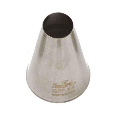 Beccuccio cornetto tondo grande 14 in acciaio inox Ø3 x 4,5 cm