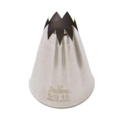Beccuccio cornetto grande stella 15 Decora in acciaio inox Ø3 x 5 cm