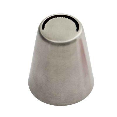 Beccuccio cornetto 3D Petalo grande frastagliato 9 in acciaio inox Ø3,7 x 4 cm