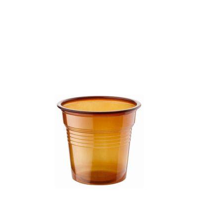 Bicchierini di plastica marrone 80 ml per macchine da caffè