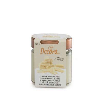 Crema spalmabile gusto Cioccolato bianco pronta all'uso 230 g Decora