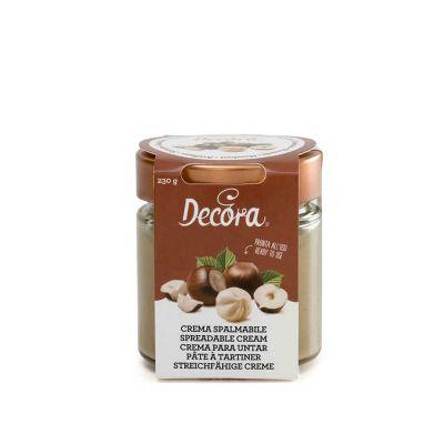Crema spalmabile gusto Nocciola pronta all'uso 230 g Decora