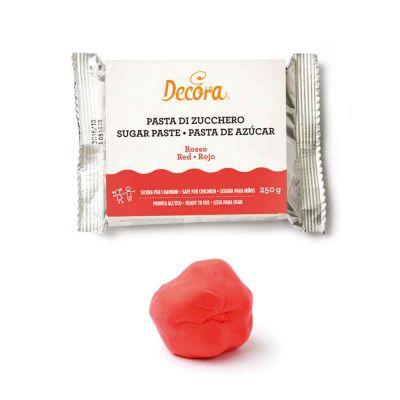 Pasta di zucchero rossa per copertura e dettagli 250 g Decora