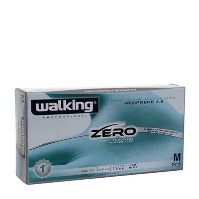 Guanti monouso in neoprene celeste Walking zero taglia M 7-7,5