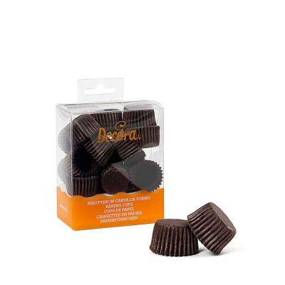 200 Pirottini in carta marrone per cottura bon bon Ø2,7 x h 1,7 cm Decora