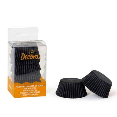 Pirottini monouso Decora per muffin colore nero