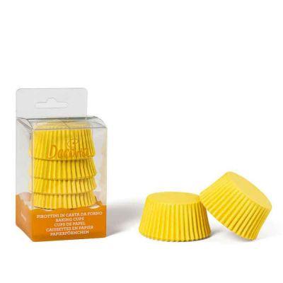 Confezione da 75 pirottini gialli per muffin Decora