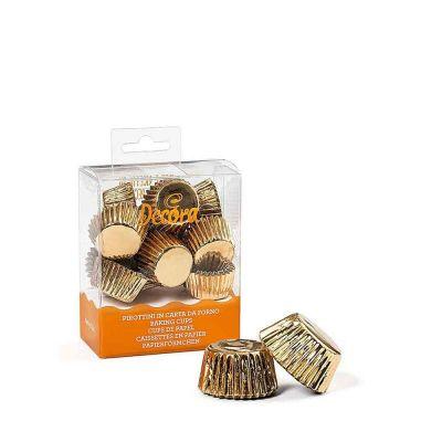 180 Pirottini in carta oro per cottura bon bon Ø2,7 x h 1,7 cm Decora