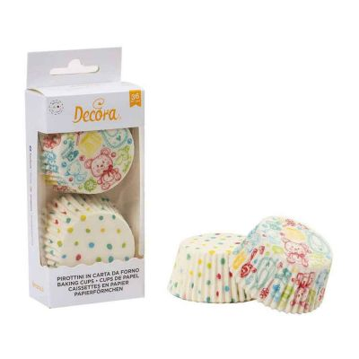 36 Pirottini in carta Decora Baby per cottura muffin Ø5 x h 3,2 cm