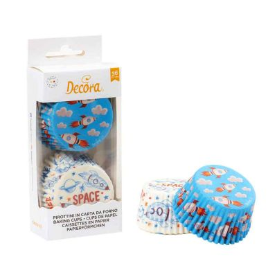 36 Pirottini in carta Decora Spazio per cottura muffin Ø5 x h 3,2 cm