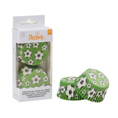 36 Pirottini in carta Decora Calcio per cottura muffin Ø5 x h 3,2 cm
