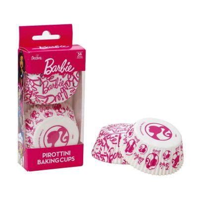 36 Pirottini logo Barbie 1 in carta Ø5cm Decora