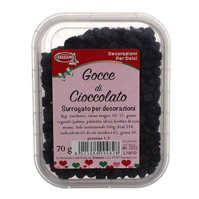 Gocce di cioccolato per decorazione dolci 70 g Graziano
