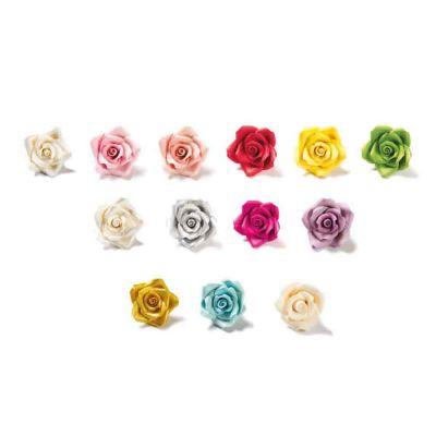56 Decorazioni Rose piccole colori assortiti in zucchero Bakery