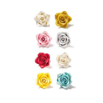 8 Decorazioni Rose piccole in zucchero Decora