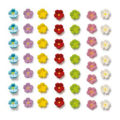 30 Decorazioni fiorellini piccoli celesti in zucchero Decora