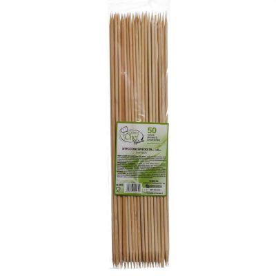 Spiedini di legno 35cm stecco di bambù doppia punta Ø4mm
