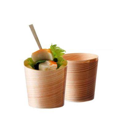 Vaschette di legno in foglia di pino alte 4,5xØ4,5 cm