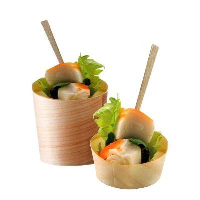 Vaschette canestrini finger food di legno in foglia di pino