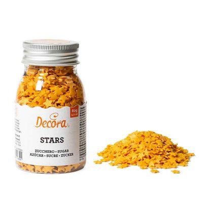 Stelline di zucchero color oro per decorazione 60 g Decora