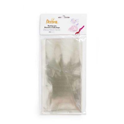 50 Sacchetti in plastica trasparente per alimenti 10 x 20 cm Decora