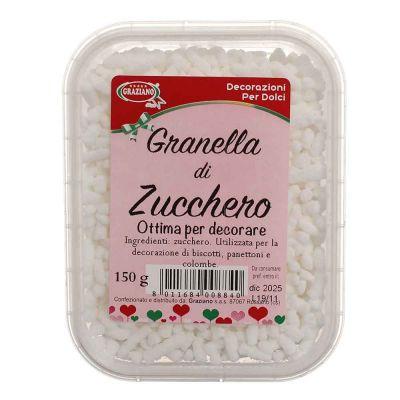 Granella di zucchero bianco per decorazione 150 g Graziano