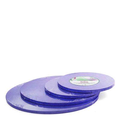 Cakeboard vassoio Sottotorta rotondo rivestito blu h 1,2 cm varie misure