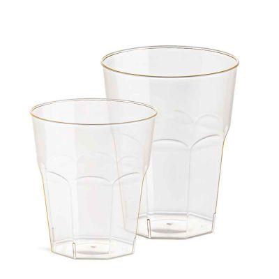 Bicchieri compostabili per cocktail in PLA trasparente