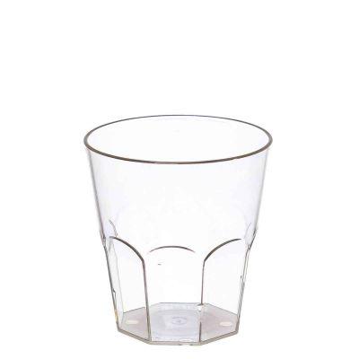 Bicchieri da cocktail bassi in SMMA trasparente