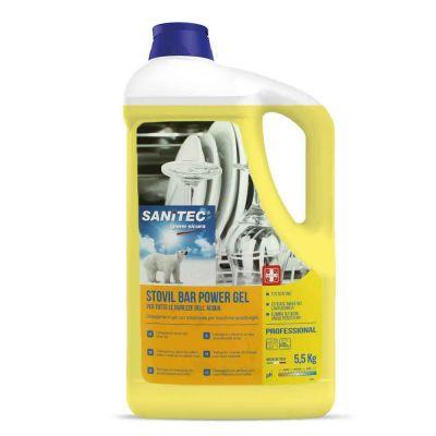 Stovil Bar detergente brillantante Sanitec per tutte le durezze dell'acqua 5 L