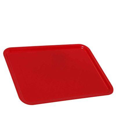 1 Vassoio da servizio in plastica rossa 30x40 cm