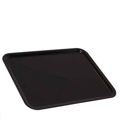 1 Vassoio da servizio in plastica nero 30x40 cm