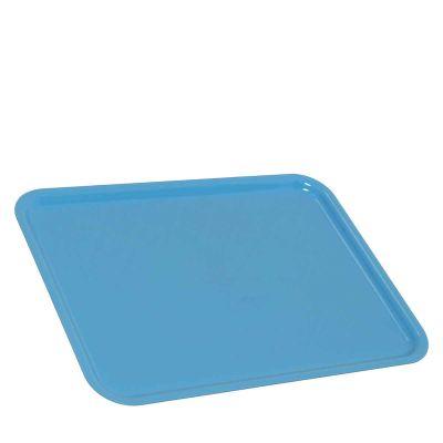 1 Vassoio da servizio in plastica azzurro 30x40 cm