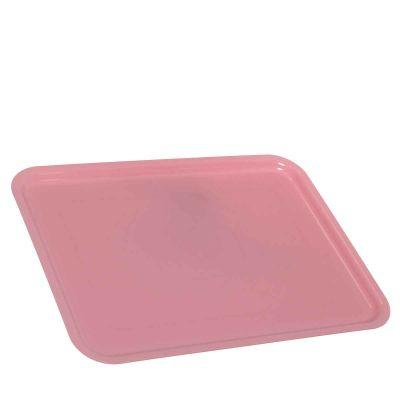 Vassoio da servizio in plastica rosa 30x40 cm