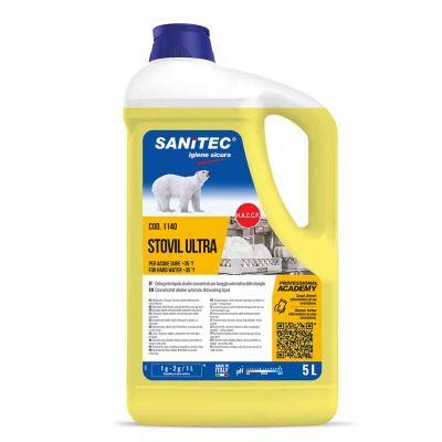 Stovil Ultra detergente Sanitec specifico per acque dure 5 L