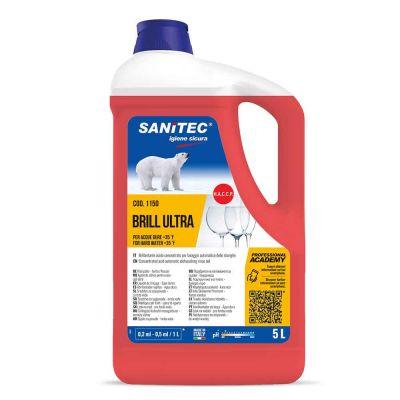 Brill Ultra Brillantante per lavastoviglie per acque dure Sanitec 5 L