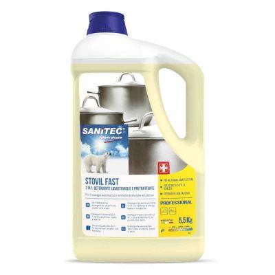 Stovil Fast detergente alcalino 2 azioni Sanitec tutte le durezze dell'acqua 5 L