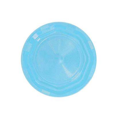 25 Piatti di plastica fondi riutilizzabili e lavabili azzurri DOpla Ø22 cm