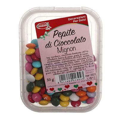 Confetti mignon di cioccolato colorato per decorazioni 50 g Graziano