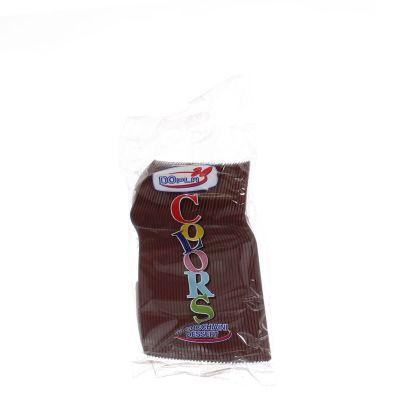 Cucchiaini dessert in plastica colorati DOpla Colors marrone cioccolato